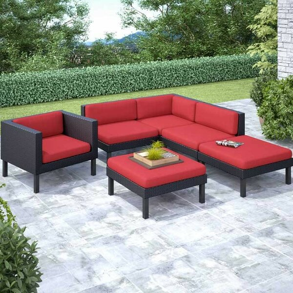 Zoar 6 Sectional Set with Cushions by Breakwater Bay