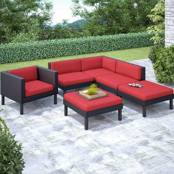 Zoar 6 Sectional Set with Cushions by Breakwater Bay