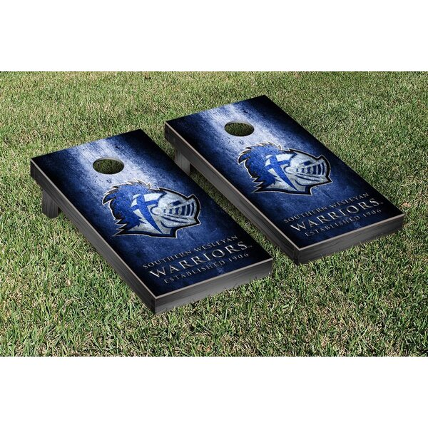 Southern Wesleyan Warriors Metal Version Cornhole Game Set by Victory Tailgate