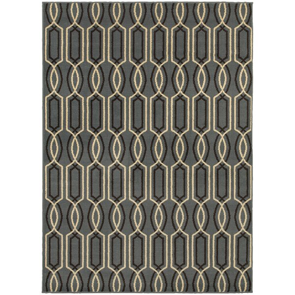 Sheridan Blue/Ivory Area Rug by Threadbind