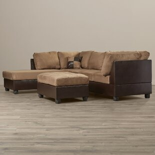 Corporate Reversible Sectional with Ottoman Andover Mills