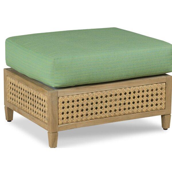 Jupiter Outdoor Teak Ottoman with Sunbrella Cushions by Woodbridge Furniture