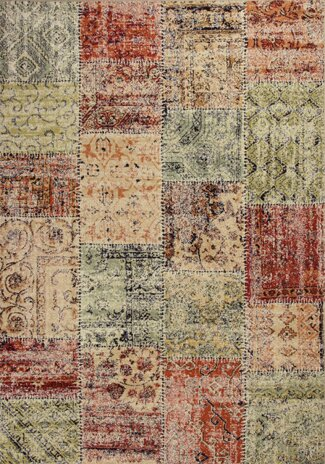 Rouidate Patchwork Area Rug by World Menagerie