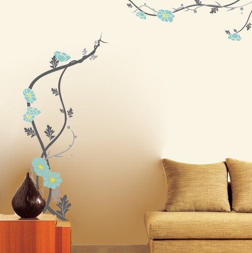 Peaceful Flowers Wall Decal by Pop Decors