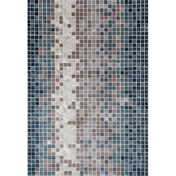 Mcconnell Blue/Gray Area Rug by Ebern Designs