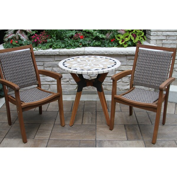 Rhett Round 3 Piece Bistro Set by Langley Street