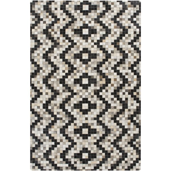 Crescent Black/Gray Area Rug by Union Rustic