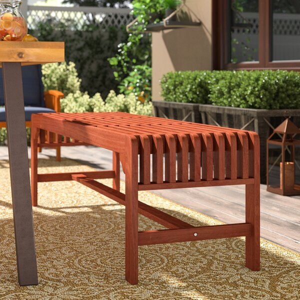 Denyse Backless Wood Three Seater Picnic Bench By Red Barrel Studio