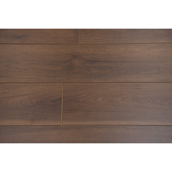 Torre 9 x 48 x 8mm Hickory Laminate Flooring in Caraway by Branton Flooring Collection