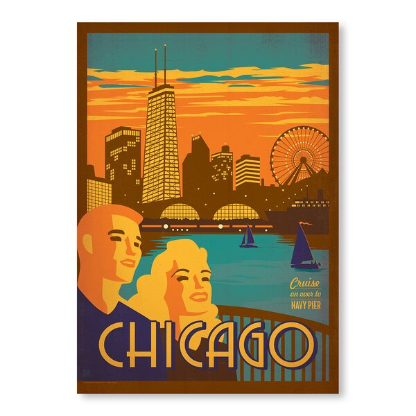 Chicago: Navy Pier Vintage Advertisement by East Urban Home