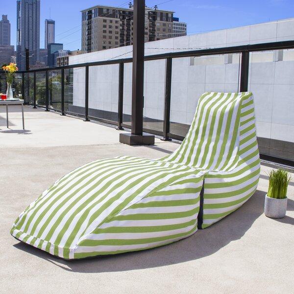 Prado Outdoor Striped Bean Bag Chaise Lounge Chair by Jaxx Jaxx