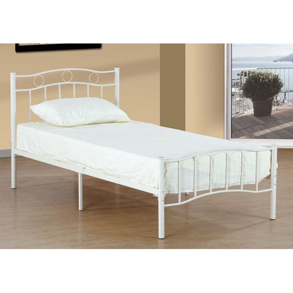 Bellanger Metal Twin Slat Bed by Harriet Bee