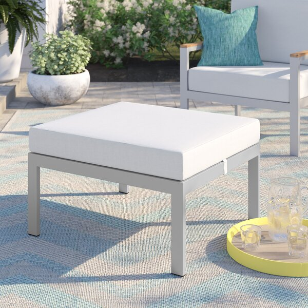 Caspian Outdoor Ottoman with Cushion by Sol 72 Outdoor