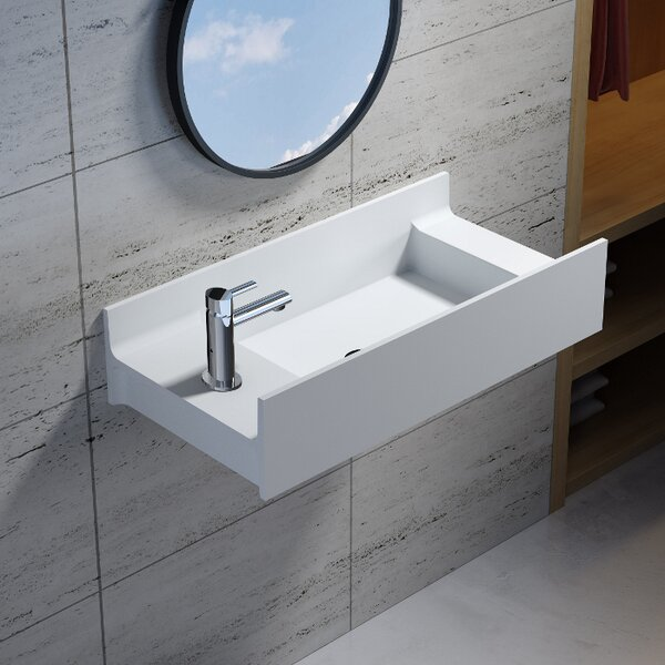 Rectangular Stone 31 Wall Mount Bathroom Sink by InFurniture