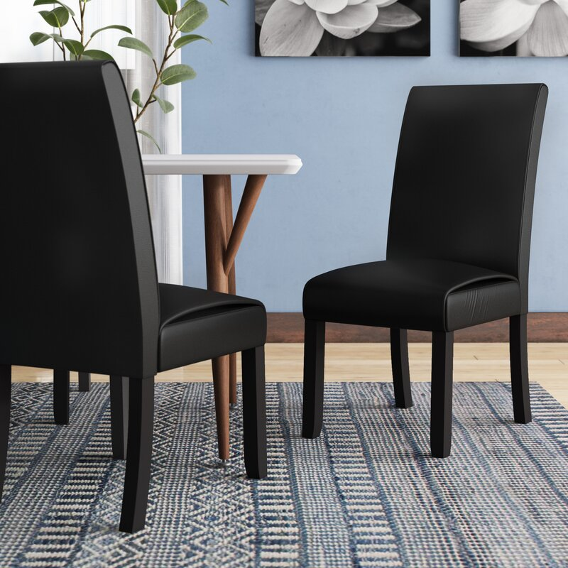 Latitude Run Gabriella Upholstered Dining Chair In Black Reviews Wayfair