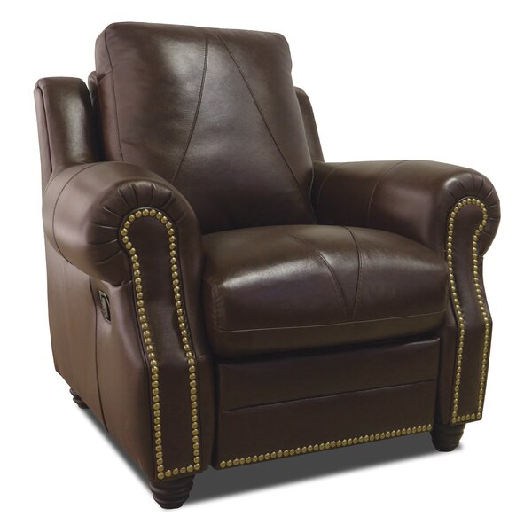 Barnstormer Leather Power Wall Hugger Recliner [Red Barrel Studio]