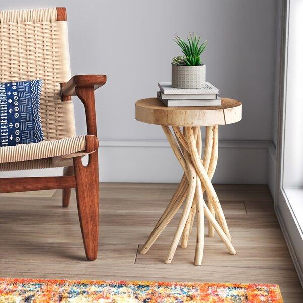 Birch Lane Mader Solid Wood Pedestal End Table Reviews Wayfair