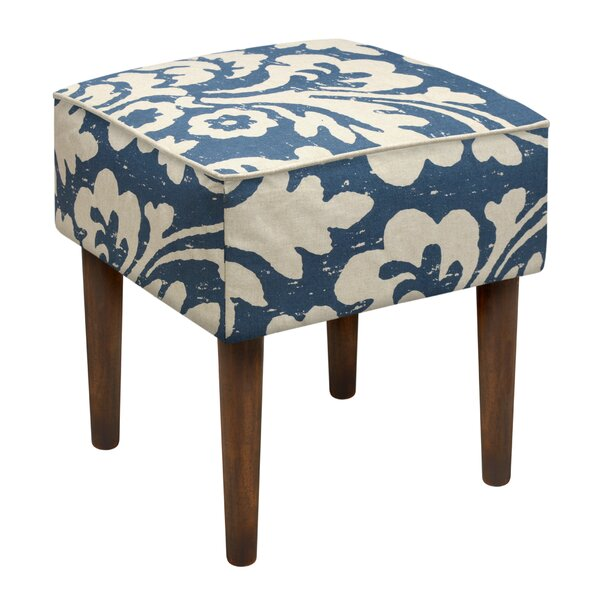 Jacobean Floral Upholstered Vanity Stool by 123 Creations