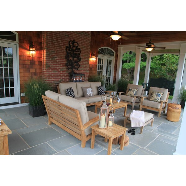 Boyle Deep Seating Group with Sunbrella Cushions by Rosecliff Heights