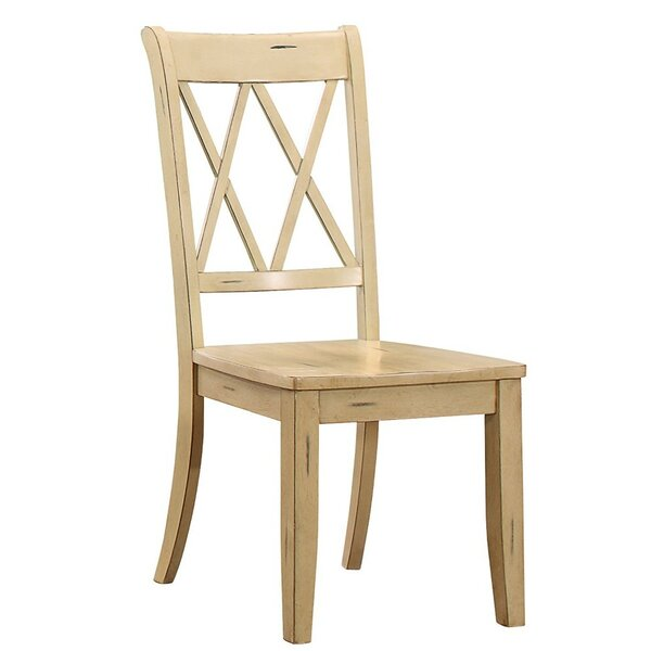 MoretinMarsh Solid Wood Dining Chair (Set of 2) by Highland Dunes
