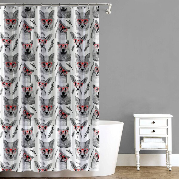 Woodland Creatures Shower Curtain by East Urban Home