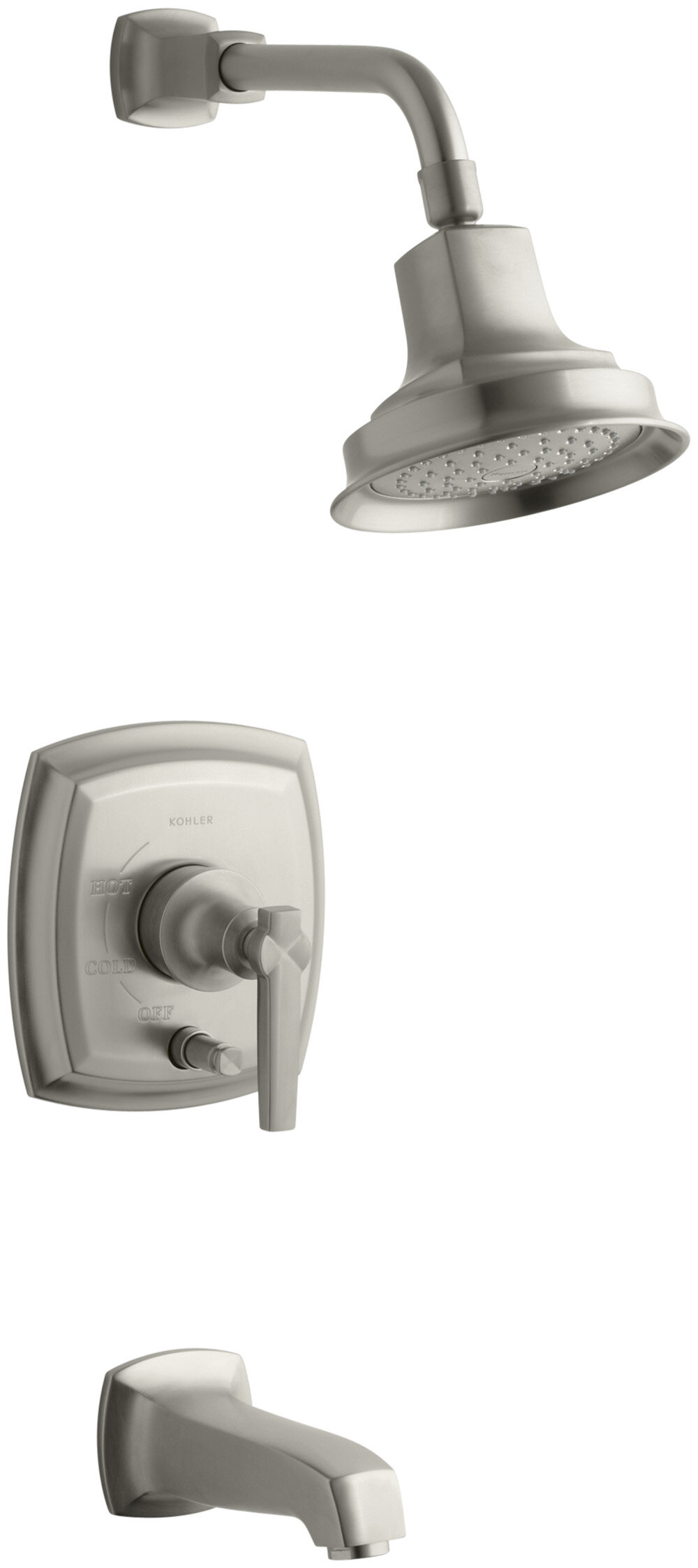 K T16233 4 Cp Bn Kohler Margaux Rite Temp Pressure Balancing Bath And Shower Faucet Trim With Push On Diverter Lever Handle Valve Not Included