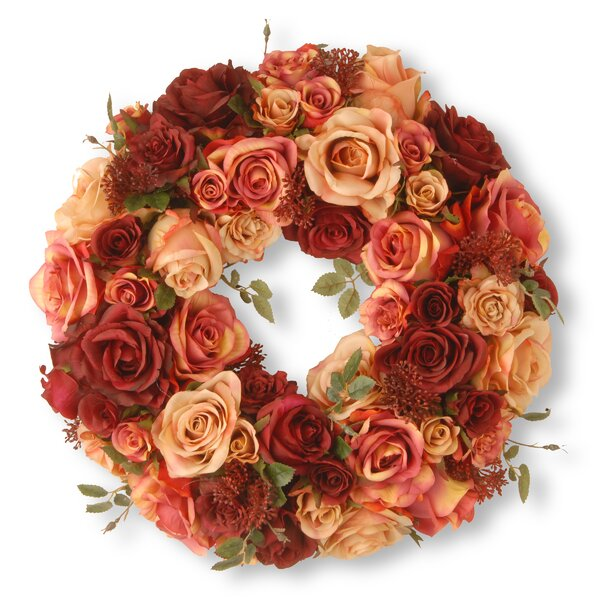 15.5 Rose Wreath by National Tree Co.