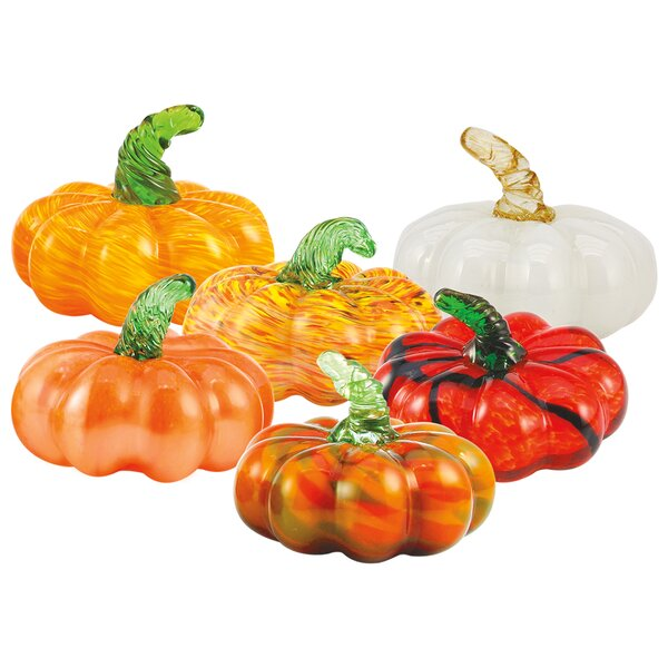 6 Piece Pumpkin Decorative Accent Set by The Holiday Aisle