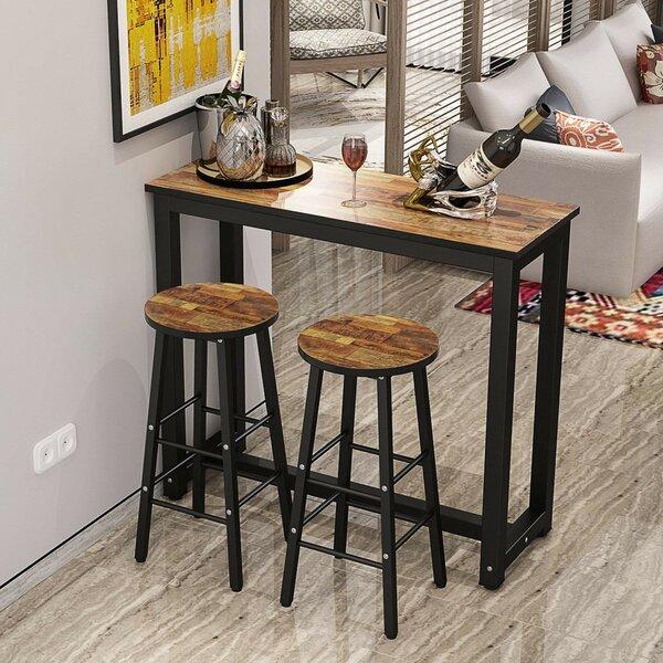 Plainfield 3 Piece Pub Table Set by Ebern Designs