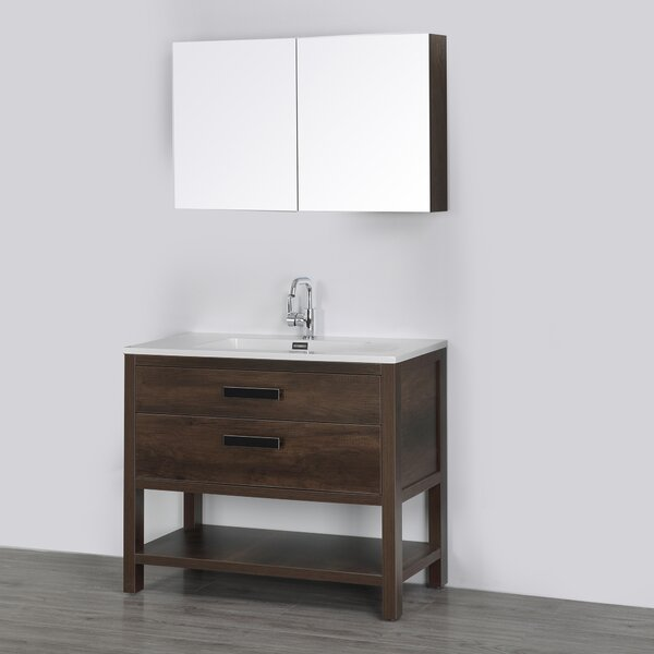 39 Single Bathroom Vanity Set with Mirror by Streamline Bath