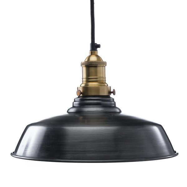 12'' Metal Bowl Pendant Shade ( Screw On ) in Aged Steel