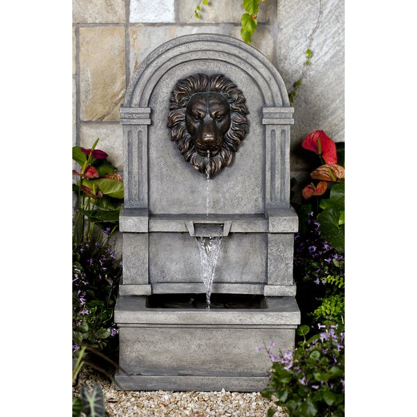 Resin/Fiberglass  Lion Fountain by Jeco Inc.