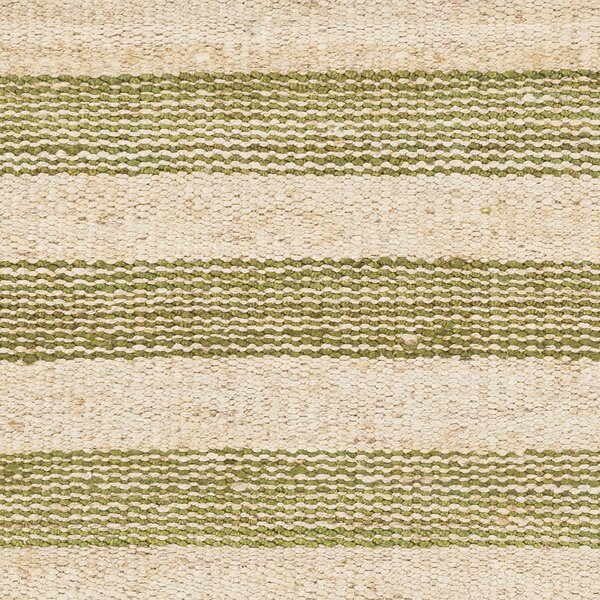Boughner Hand-Woven Green/Neutral Area Rug by Three Posts