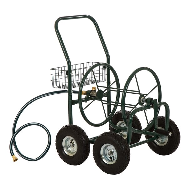 Yard Garden Landscape Steel Hose Reel Cart by Glitzhome
