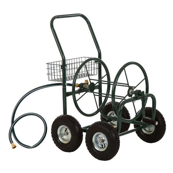 Yard Garden Landscape Steel Hose Reel Cart by Glitzhome