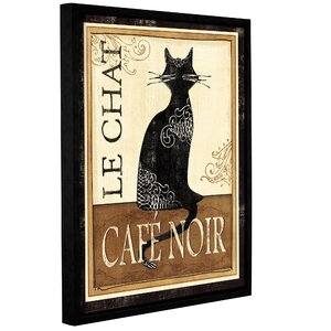 Le Chat Framed Graphic Art by Red Barrel Studio