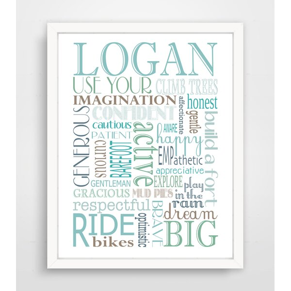 Personalized Boy Rules Paper Print by Finny and Zook
