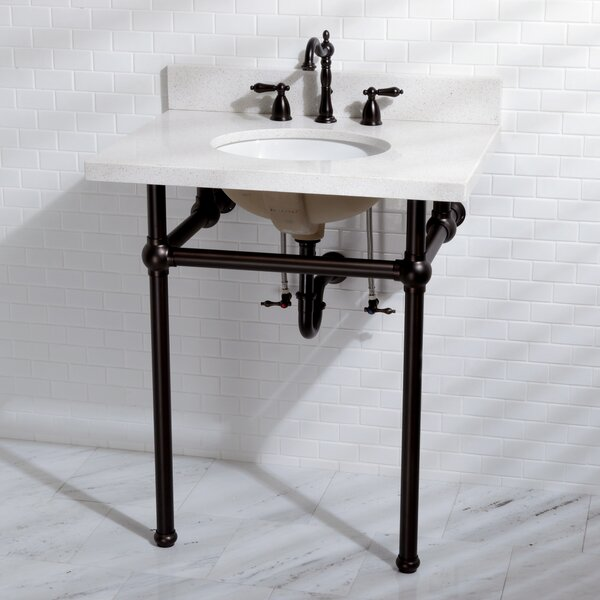 Templeton 12 Console Bathroom Sink with Overflow by Kingston Brass