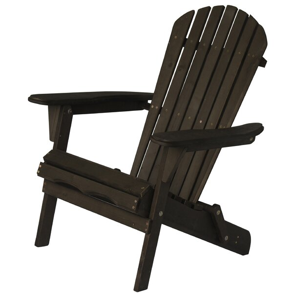 Mancheer Oceanic Solid Wood Folding Adirondack Chair by Highland Dunes Highland Dunes