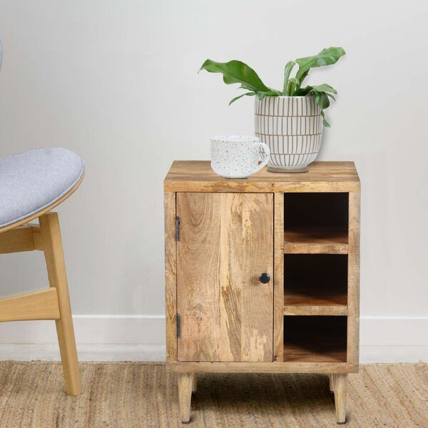 Monford Solid Wood End Table With Storage By Foundry Select