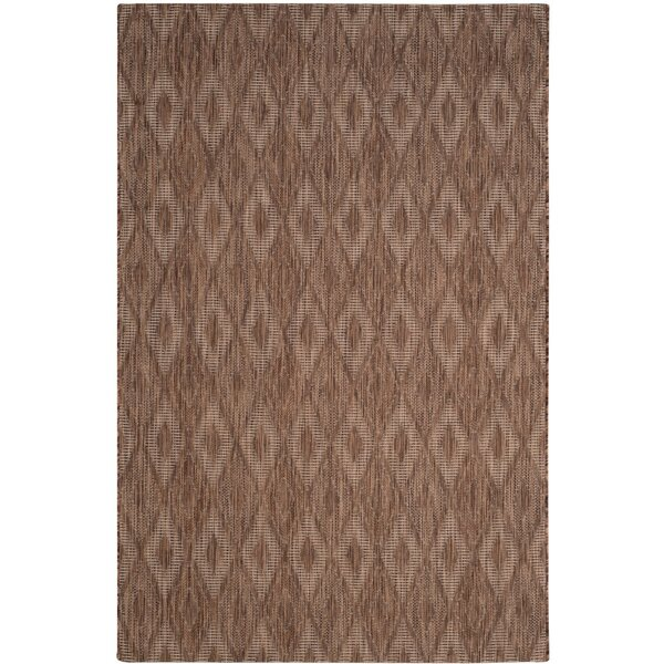 Brodie Brown Indoor/Outdoor Area Rug by Langley Street