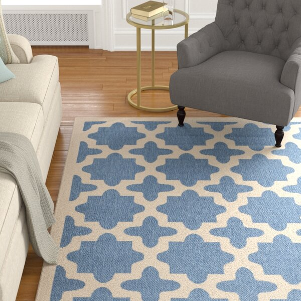 Fredricks Blue/Beige Outdoor Area Rug by Alcott Hill