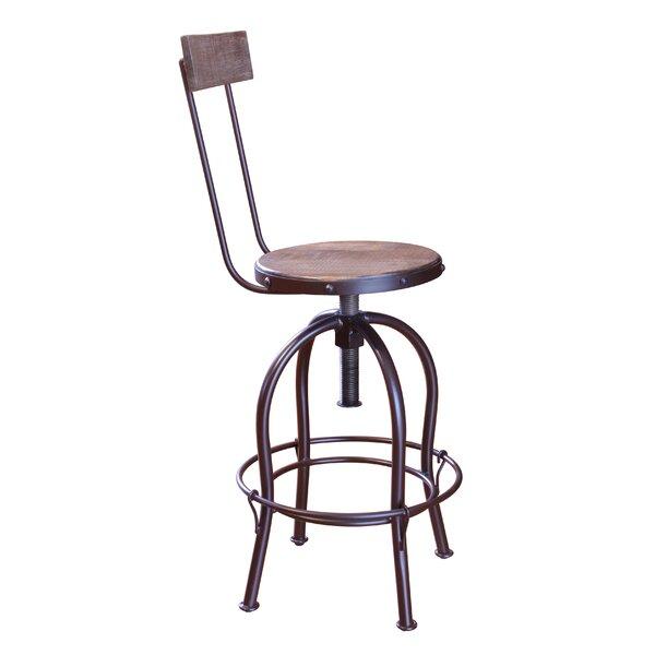 Guynn Adjustable Height Bar Stool (Set of 2) by Williston Forge Williston Forge