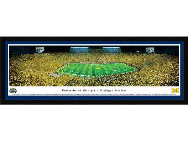NCAA Michigan, University of - Under The Lights - 2013 50 Yard Line Framed Photographic Print by Blakeway Worldwide Panoramas, Inc