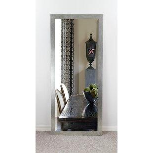 Look for Brushed Silver Beveled Wall Mirror ByBrayden Studio