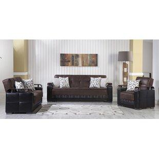 Hafwen 3 Piece Sleeper Living Room Set by Orren Ellis