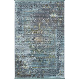 Order Lonerock Gray/Teal Area Rug By Bungalow Rose