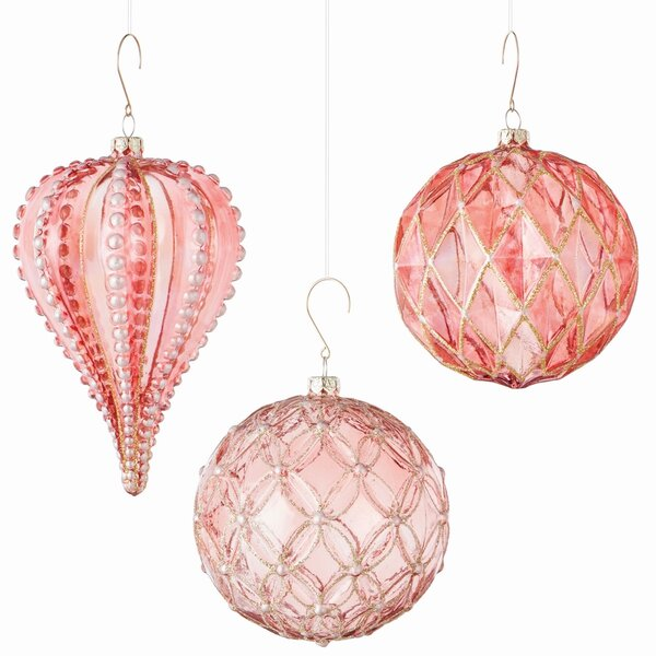 3 Piece Shaped Ornament Set by The Holiday Aisle
