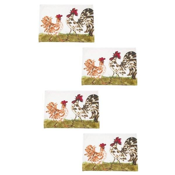 Charland Rooster Placemat (Set of 16) by August Grove
