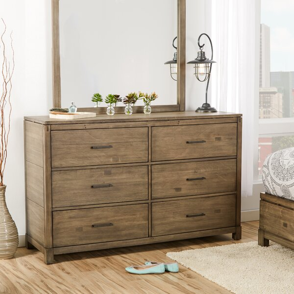 Seleukos 6 Drawer Double Dresser by Mercury Row